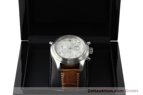 Used luxury watch IWC Doppelchronograph chronograph steel automatic Kal. 79230 Ref. 3713  | 150318 07