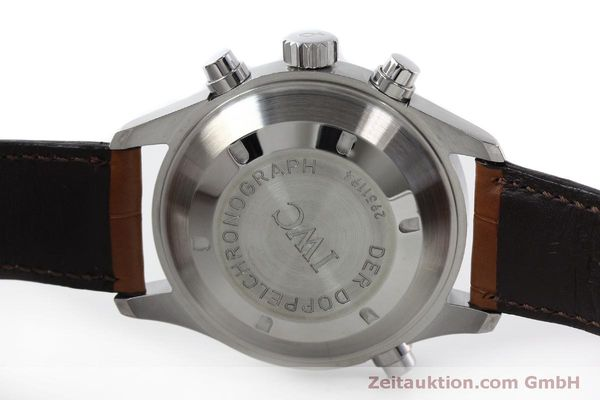 Used luxury watch IWC Doppelchronograph chronograph steel automatic Kal. 79230 Ref. 3713  | 150318 09