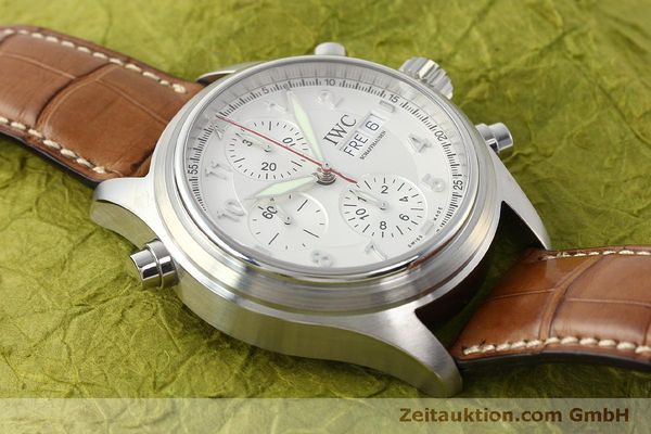Used luxury watch IWC Doppelchronograph chronograph steel automatic Kal. 79230 Ref. 3713  | 150318 17