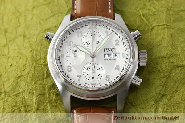 Used luxury watch IWC Doppelchronograph chronograph steel automatic Kal. 79230 Ref. 3713  | 150318 18