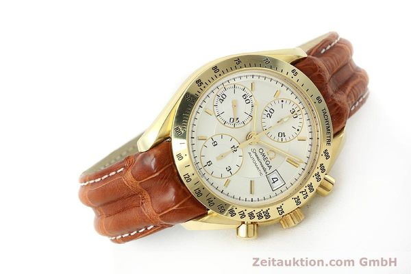 Used luxury watch Omega Speedmaster chronograph 18 ct gold automatic Kal. 1152  | 150321 03