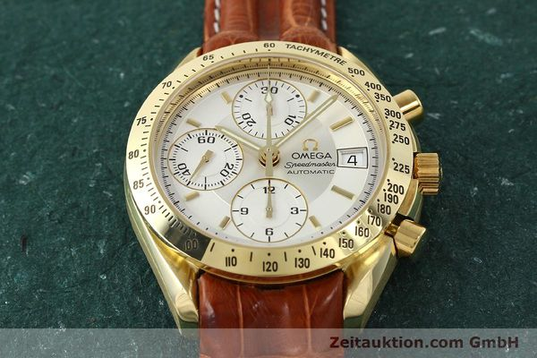 Used luxury watch Omega Speedmaster chronograph 18 ct gold automatic Kal. 1152  | 150321 16