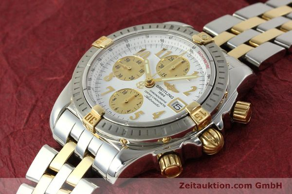 Used luxury watch Breitling Evolution chronograph steel / gold automatic Kal. B13 ETA 7750 Ref. B13356  | 150322 01