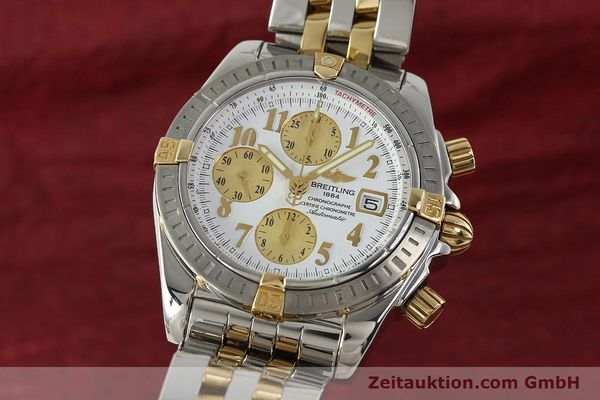 Used luxury watch Breitling Evolution chronograph steel / gold automatic Kal. B13 ETA 7750 Ref. B13356  | 150322 04