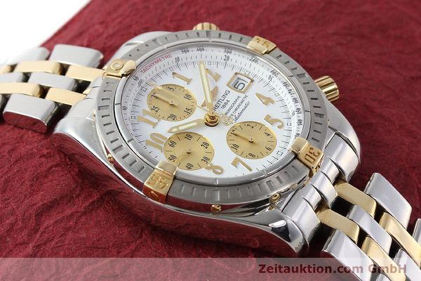 Used luxury watch Breitling Evolution chronograph steel / gold automatic Kal. B13 ETA 7750 Ref. B13356  | 150322 14