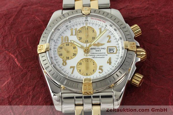 Used luxury watch Breitling Evolution chronograph steel / gold automatic Kal. B13 ETA 7750 Ref. B13356  | 150322 15