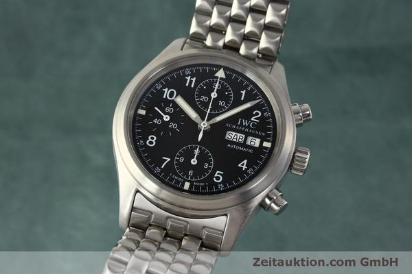 Used luxury watch IWC Fliegerchronograph chronograph steel automatic Kal. 7922 Ref. 3706  | 150325 04