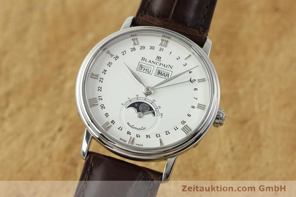 Used luxury watch Blancpain Villeret steel automatic Kal. 6763 Ref. 6263  | 150329 04