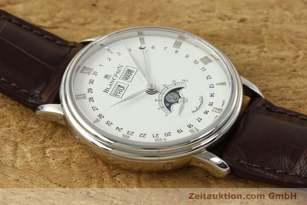Used luxury watch Blancpain Villeret steel automatic Kal. 6763 Ref. 6263  | 150329 14