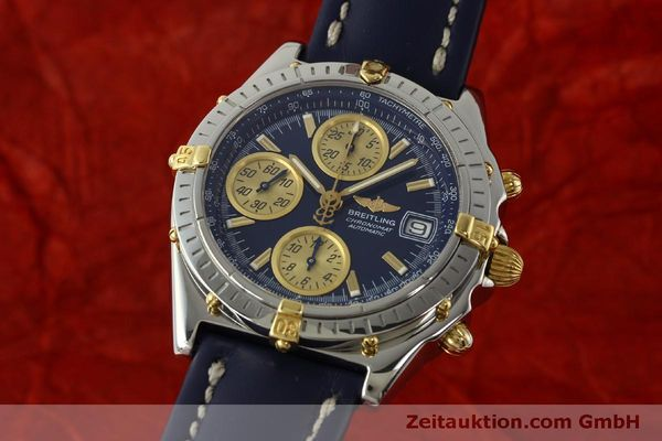 Used luxury watch Breitling Chronomat chronograph steel / gold automatic Kal. B13 ETA 7750 Ref. B13050.1  | 150335 04