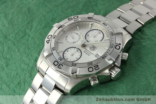 Used luxury watch Tag Heuer Aquaracer chronograph steel automatic Kal. 16 ETA 7750 Ref. CAF2111  | 150348 01