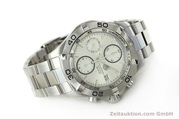 Used luxury watch Tag Heuer Aquaracer chronograph steel automatic Kal. 16 ETA 7750 Ref. CAF2111  | 150348 03