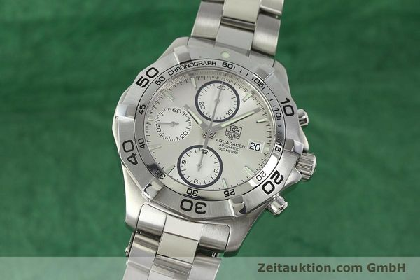 Used luxury watch Tag Heuer Aquaracer chronograph steel automatic Kal. 16 ETA 7750 Ref. CAF2111  | 150348 04