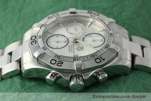 Used luxury watch Tag Heuer Aquaracer chronograph steel automatic Kal. 16 ETA 7750 Ref. CAF2111  | 150348 05