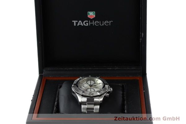 Used luxury watch Tag Heuer Aquaracer chronograph steel automatic Kal. 16 ETA 7750 Ref. CAF2111  | 150348 07
