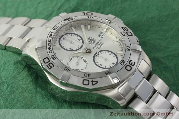 Used luxury watch Tag Heuer Aquaracer chronograph steel automatic Kal. 16 ETA 7750 Ref. CAF2111  | 150348 16