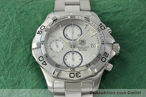 Used luxury watch Tag Heuer Aquaracer chronograph steel automatic Kal. 16 ETA 7750 Ref. CAF2111  | 150348 17