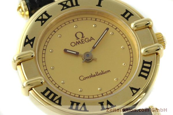 Used luxury watch Omega Constellation 18 ct gold quartz Kal. 1155 ETA 976.001  | 150350 02