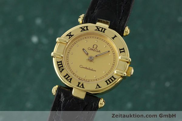 Used luxury watch Omega Constellation 18 ct gold quartz Kal. 1155 ETA 976.001  | 150350 04