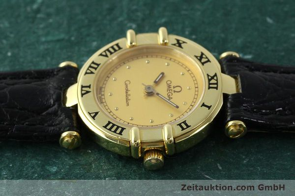 Used luxury watch Omega Constellation 18 ct gold quartz Kal. 1155 ETA 976.001  | 150350 05