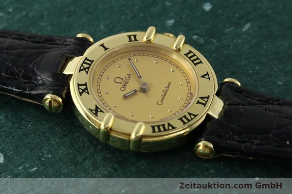 gebrauchte Luxusuhr Omega Constellation 18k Gold Quarz Kal. 1155 ETA 976.001  | 150350 12