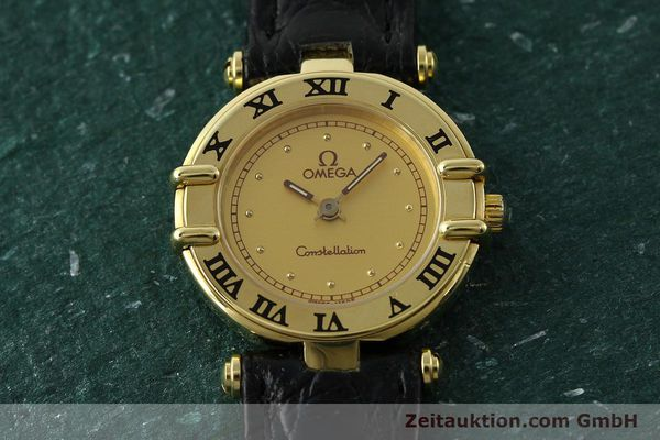 gebrauchte Luxusuhr Omega Constellation 18k Gold Quarz Kal. 1155 ETA 976.001  | 150350 13