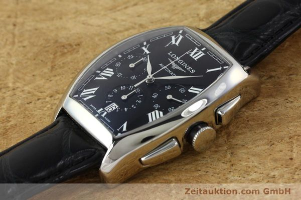 Used luxury watch Longines Evidenza chronograph steel automatic Kal. L650.2 ETA 2894-2 Ref. L2.643.4  | 150356 01