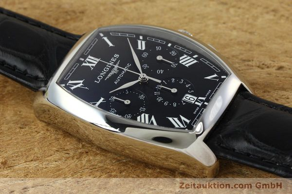 Used luxury watch Longines Evidenza chronograph steel automatic Kal. L650.2 ETA 2894-2 Ref. L2.643.4  | 150356 12