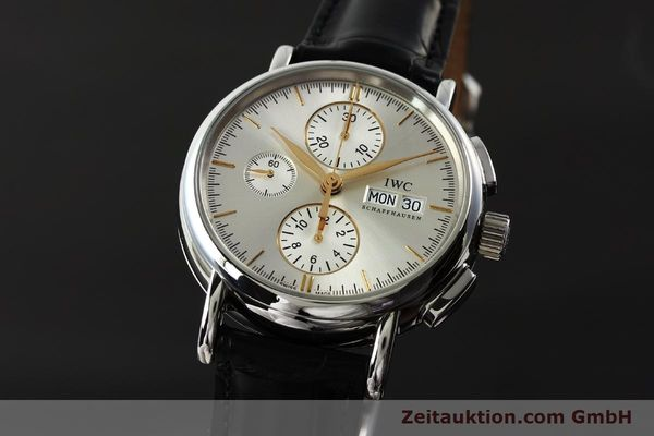 Used luxury watch IWC Portofino chronograph steel automatic Kal. 79320 Ref. 3783  | 150390 04