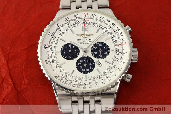 Used luxury watch Breitling Navitimer chronograph steel automatic Kal. B35 ETA 2892A2 Ref. A35340  | 150391 14