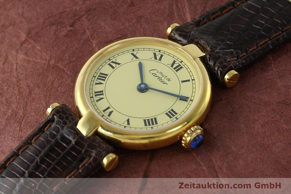 Used luxury watch Cartier Vermeil silver-gilt quartz Kal. 90  | 150409 01
