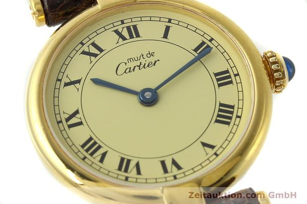 Used luxury watch Cartier Vermeil silver-gilt quartz Kal. 90  | 150409 02