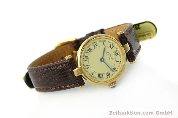 Used luxury watch Cartier Vermeil silver-gilt quartz Kal. 90  | 150409 03