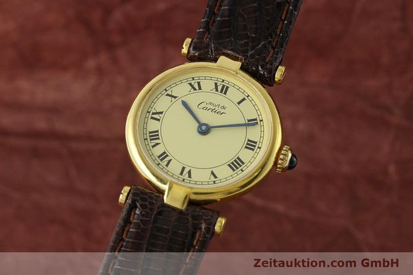 Used luxury watch Cartier Vermeil silver-gilt quartz Kal. 90  | 150409 04