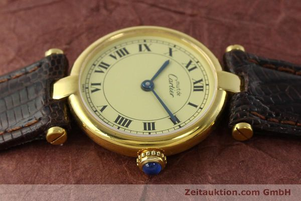 Used luxury watch Cartier Vermeil silver-gilt quartz Kal. 90  | 150409 05
