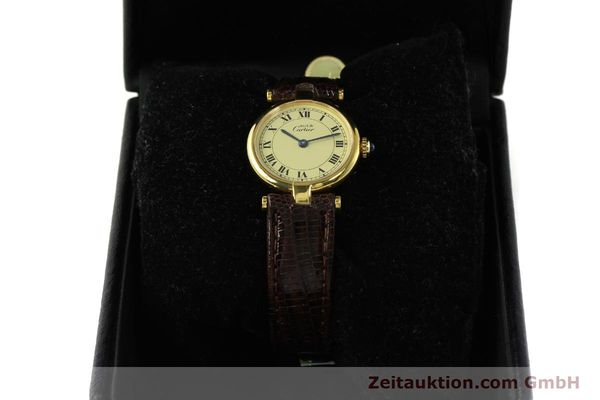 Used luxury watch Cartier Vermeil silver-gilt quartz Kal. 90  | 150409 07