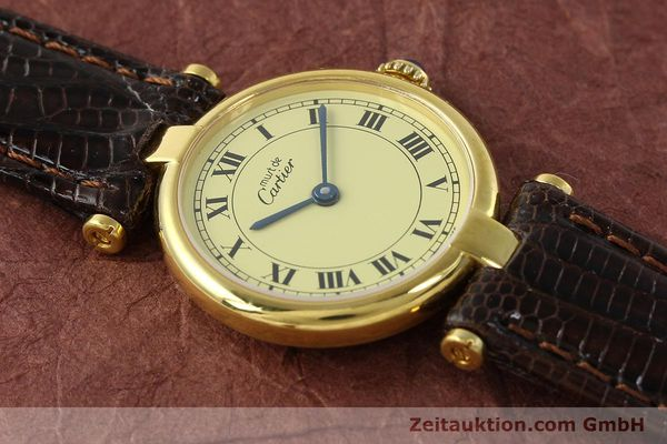Used luxury watch Cartier Vermeil silver-gilt quartz Kal. 90  | 150409 12