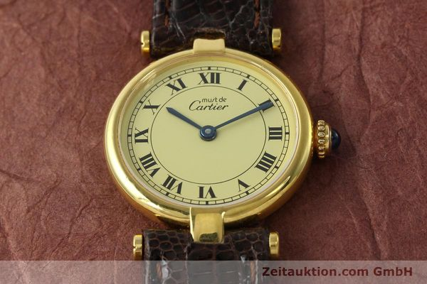 Used luxury watch Cartier Vermeil silver-gilt quartz Kal. 90  | 150409 13