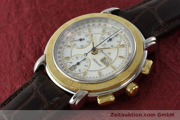 Used luxury watch Maurice Lacroix Masterpiece chronograph steel / gold automatic Kal. ML67 ETA 7750 Ref. 67587  | 150410 01