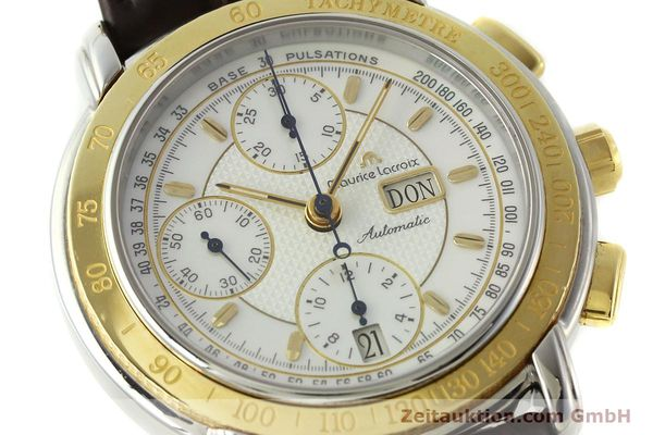Used luxury watch Maurice Lacroix Masterpiece chronograph steel / gold automatic Kal. ML67 ETA 7750 Ref. 67587  | 150410 02