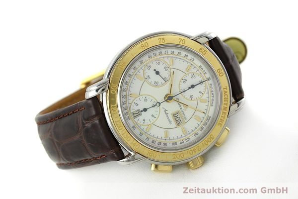 Used luxury watch Maurice Lacroix Masterpiece chronograph steel / gold automatic Kal. ML67 ETA 7750 Ref. 67587  | 150410 03