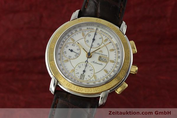 Used luxury watch Maurice Lacroix Masterpiece chronograph steel / gold automatic Kal. ML67 ETA 7750 Ref. 67587  | 150410 04