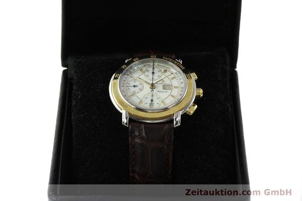 Used luxury watch Maurice Lacroix Masterpiece chronograph steel / gold automatic Kal. ML67 ETA 7750 Ref. 67587  | 150410 07