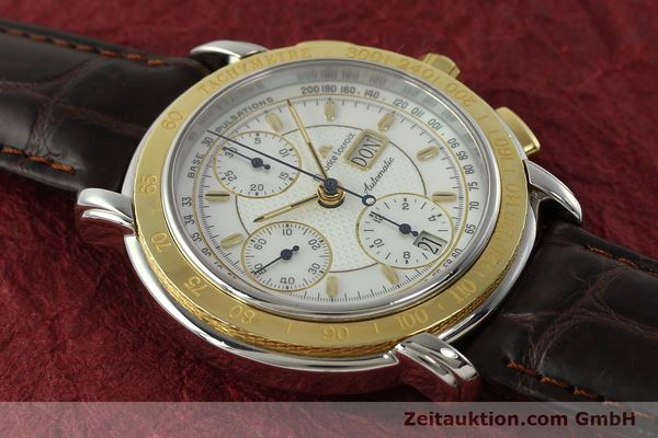 Used luxury watch Maurice Lacroix Masterpiece chronograph steel / gold automatic Kal. ML67 ETA 7750 Ref. 67587  | 150410 13
