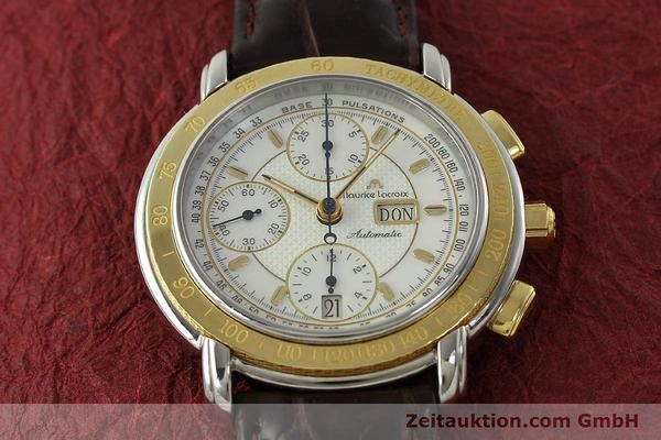 Used luxury watch Maurice Lacroix Masterpiece chronograph steel / gold automatic Kal. ML67 ETA 7750 Ref. 67587  | 150410 14