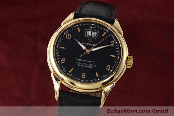 Used luxury watch Eterna 1948 18 ct gold automatic Kal. ETA 2892 A2 Ref. 608.8425.69  | 150421 04