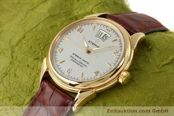montre de luxe d occasion Eterna 1948 or 18 ct automatique Kal. ETA 2892 A2 Ref. 608.8425.69  | 150422 01