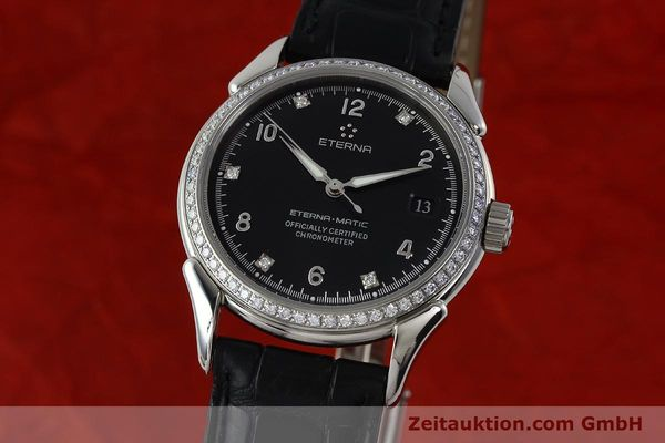 Used luxury watch Eterna 1948 steel automatic Kal. ETA 2824-2 Ref. 633.8423.41  | 150423 04