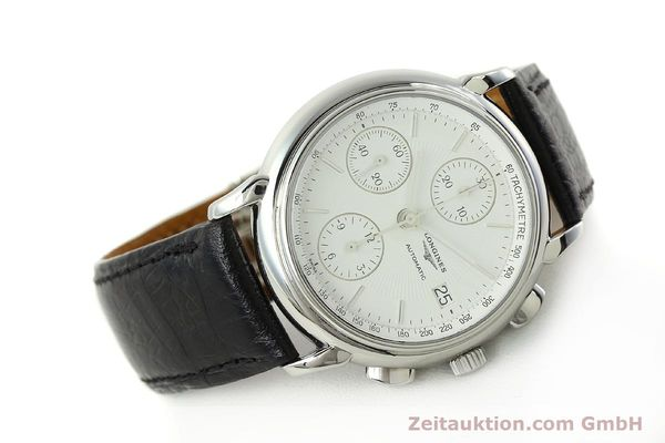 Used luxury watch Longines Les Grande Classique chronograph steel automatic Kal. L667.2 ETA 7750 Ref. L4.686.4  | 150426 03