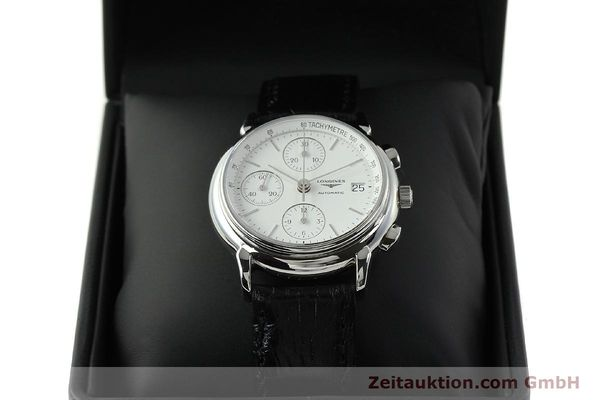Used luxury watch Longines Les Grande Classique chronograph steel automatic Kal. L667.2 ETA 7750 Ref. L4.686.4  | 150426 07